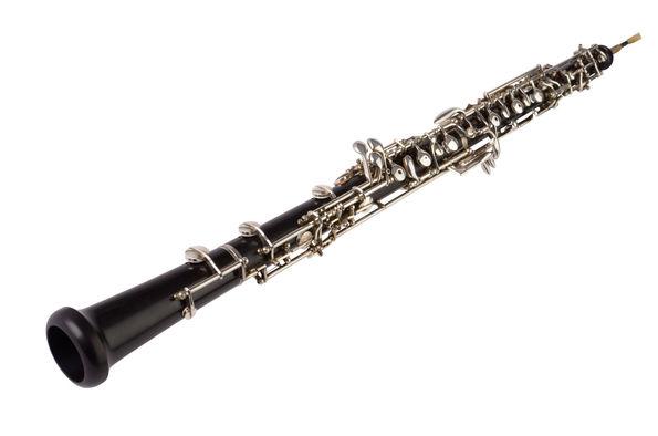 25781780 - oboe isolated on white,  studio shot
