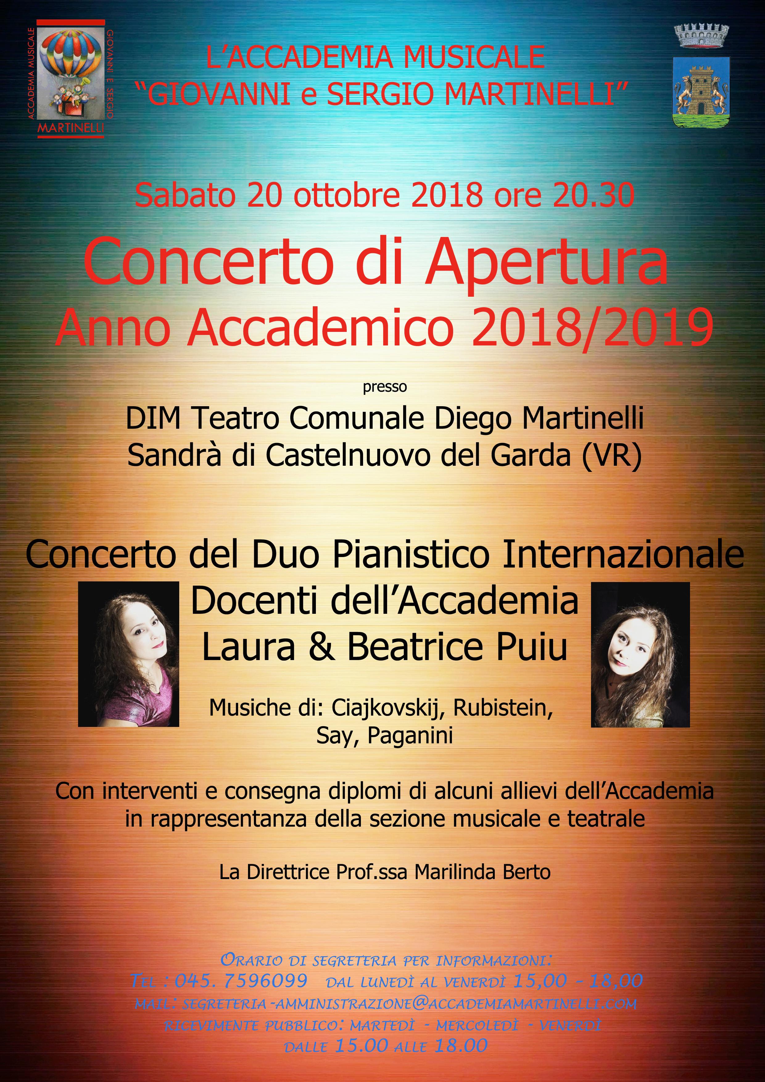 concerto apertura 2018
